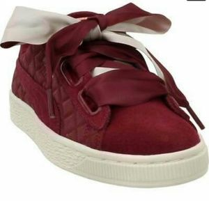 Puma heart quilted suede sneakers